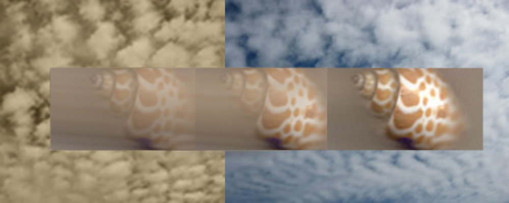 © Betty Butler, Sea and Sky, Photo montage, patterns in nature